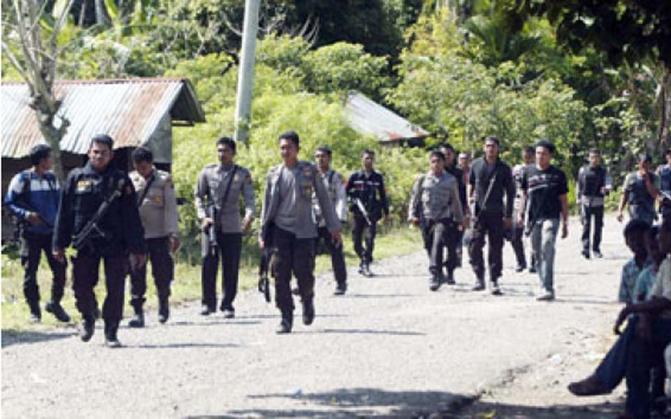 Police operation in Greater Aceh (Tempo)