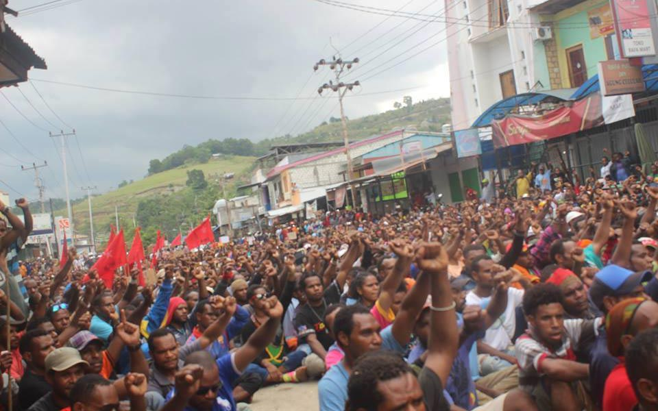 Pro-independence rally in West Papua (Tabloid Wani)