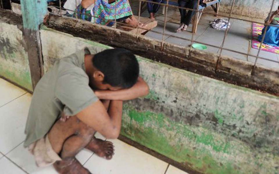 Acehnese child suffering from post-traumatic stress (Merdeka)