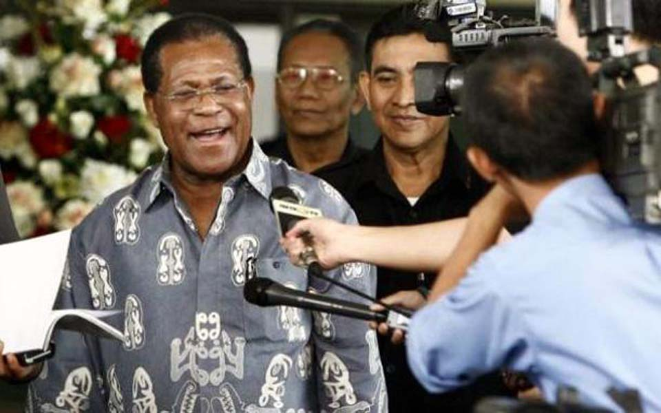 Former West Papua governor Barnabas Suebu (Tribune)