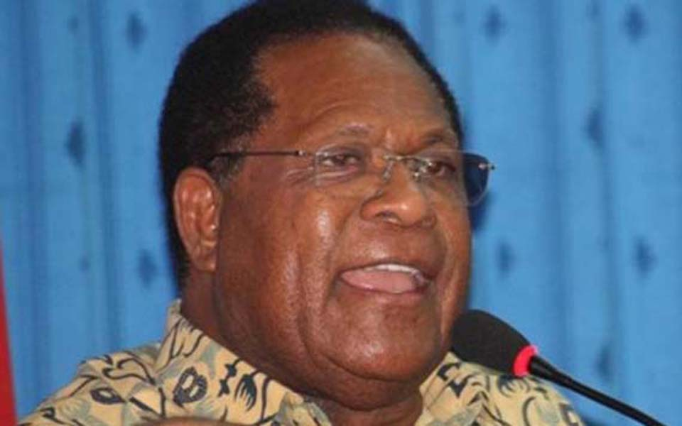 Former West Papuan governor Freddy Number (Satu Harapan)