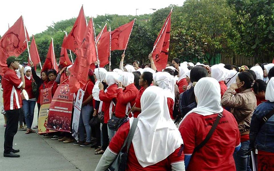 Indonesian National Front for Labour Struggle rally (Berdikari)