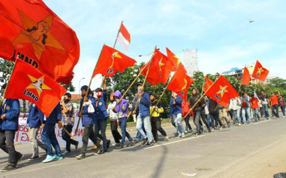 National Student League for Democracy rally (Mikan News)