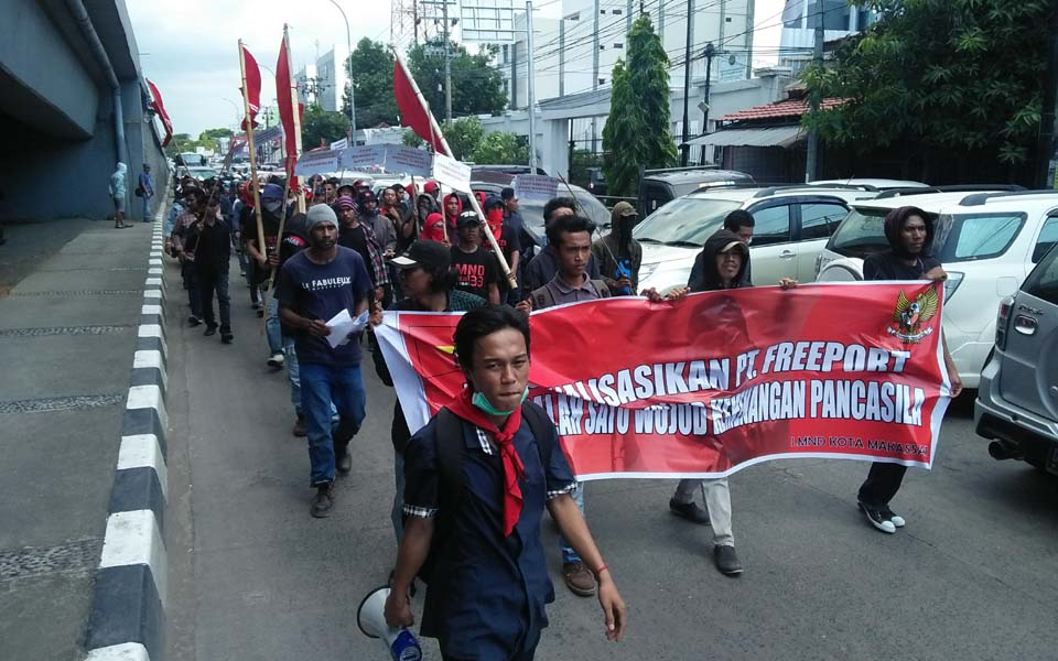 Students hold protest rally on Youth Pledge Day (Sulsel Satu)