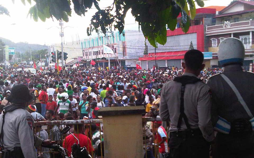 Hundreds of West Papuans hold rally in Abepura (Berita Satu)