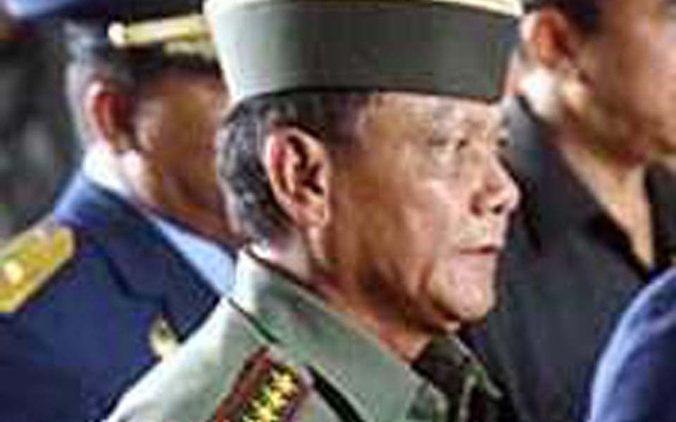 Indonesian military chief General Endriartono Sutarto (Detik)