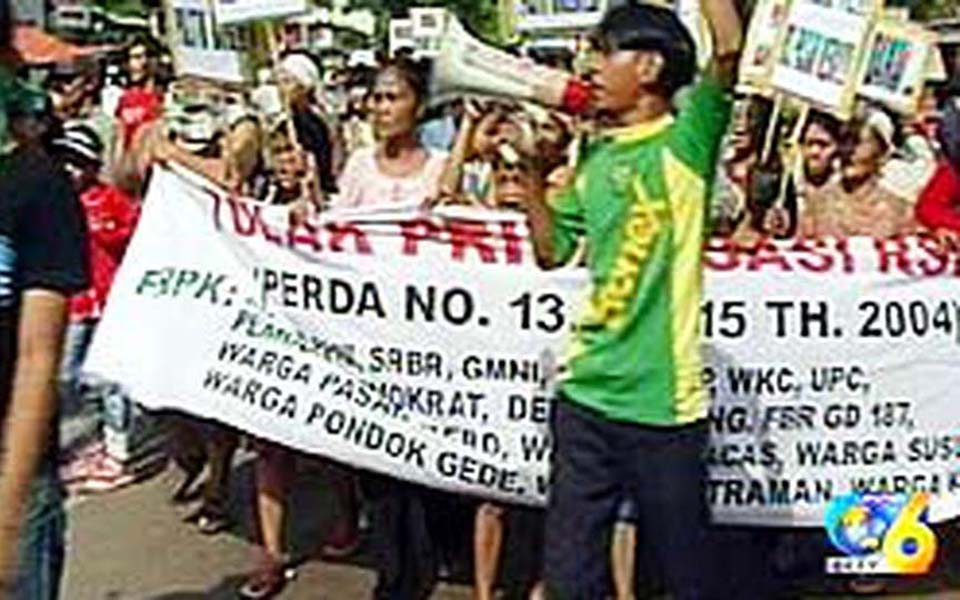 People's Forum for Health Concerns protest (Liputan 6)