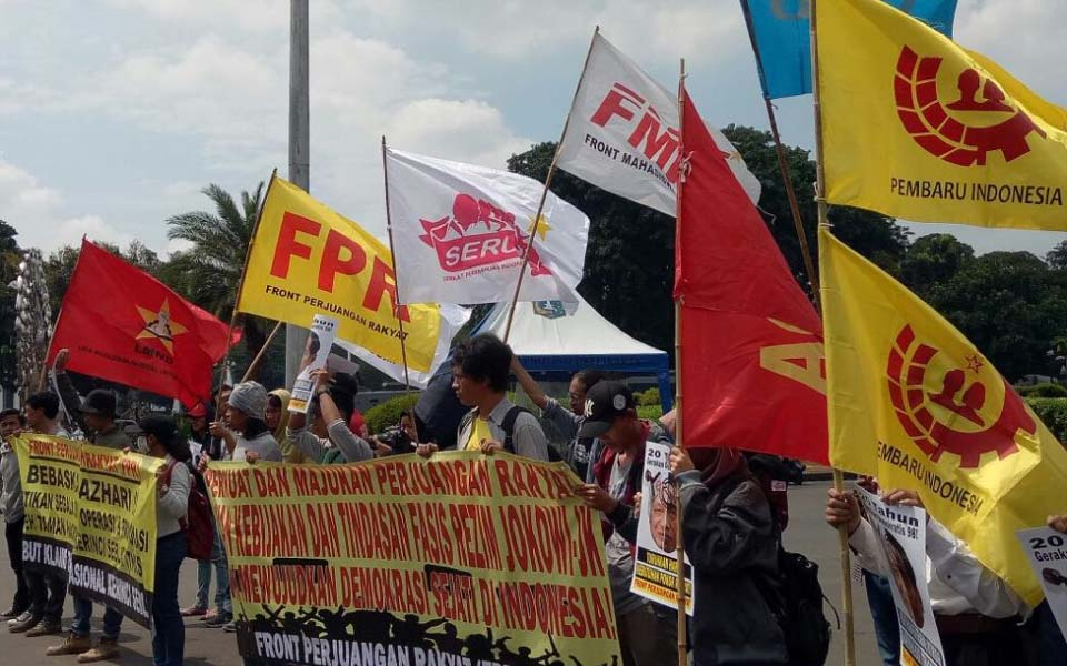 People's Struggle Front for Democracy rally (FPR Satu Mei)