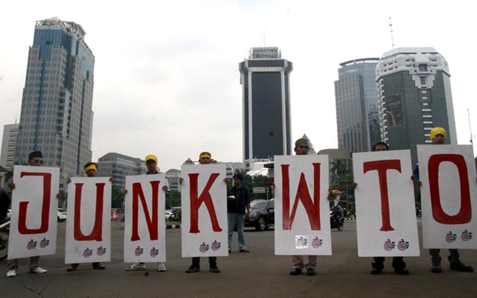 Protest against World Trade Organisation in Jakarta (Satu Harapan)