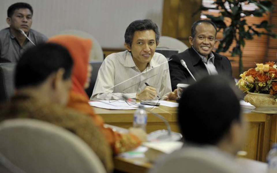 Repdem general chairperson Beathor Suryadi pictured centre (Antara)