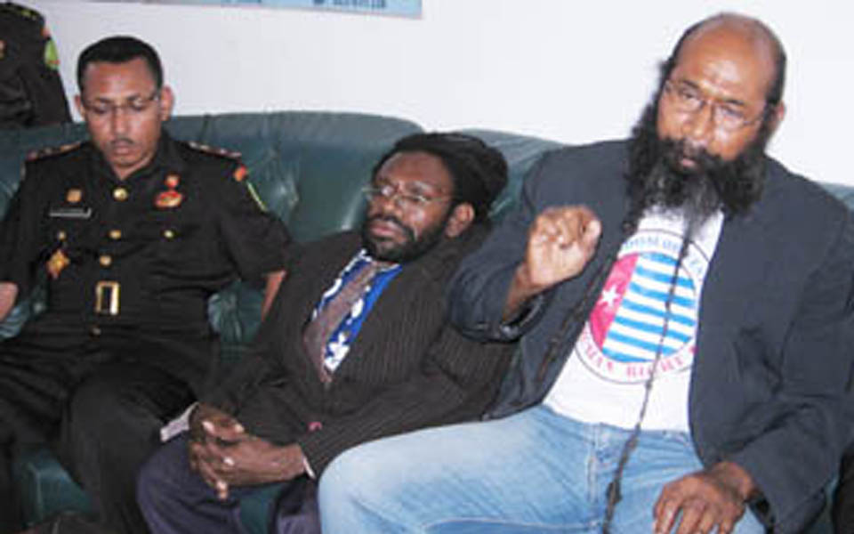 West Papuan independence activists Philip Karma and Yusak Pakage (Bemeyomi)