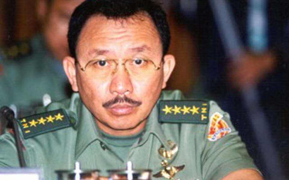 Former Army chief of staff retired General Tyasno Sudarto (Tribune)