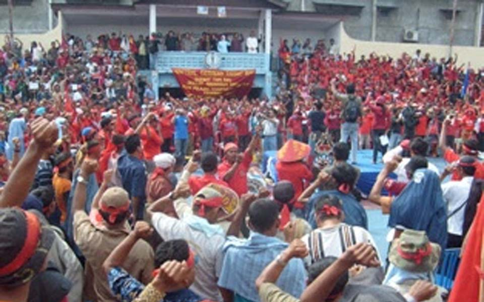 National Liberation Party of Unity rally in Riau (leftclickblog)