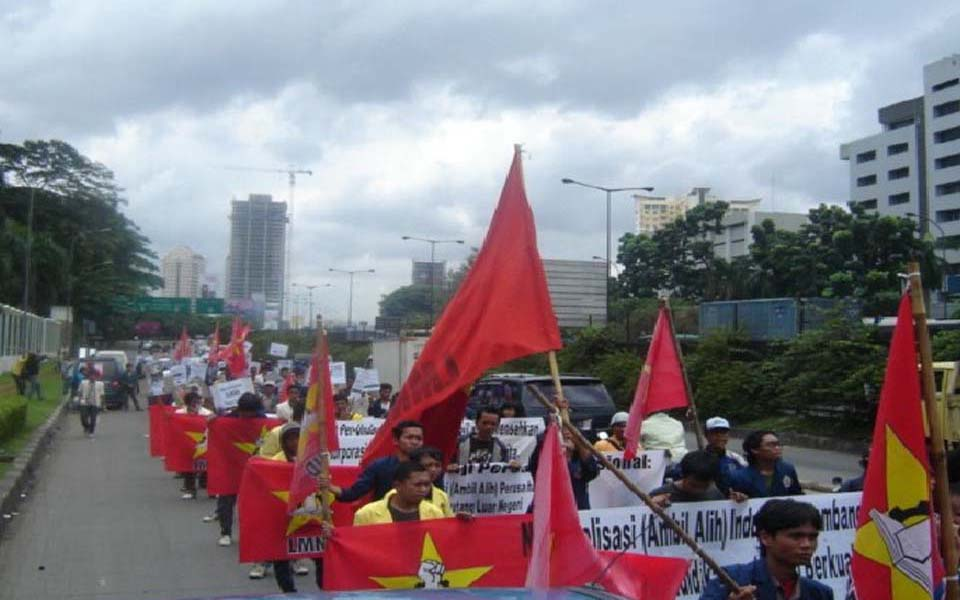 National Student League for Democracy rally in Jakarta (slideshare)