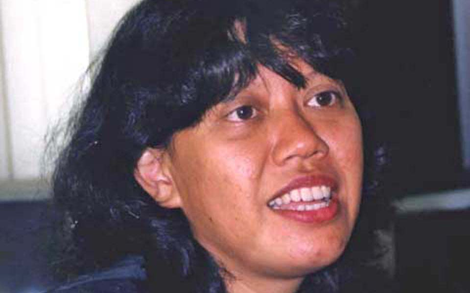 People's Democratic Party general chairperson Dita Indah Sari (Perspektif Baru)