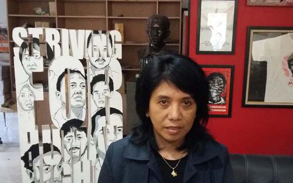 Suciwati, wife of murdered human rights activists Munir (Kompas)