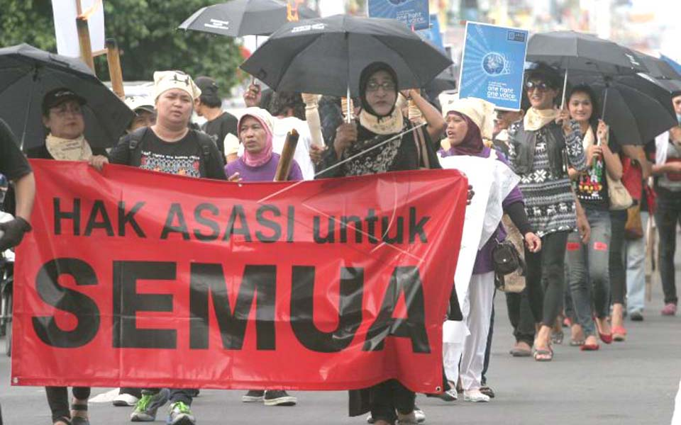 Activists commemorate Human Rights Day in Yogyakarta (Antara)