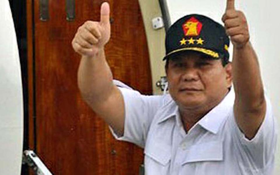 Gerindra Party chairperson former General Prabowo Subianto (Tribune)