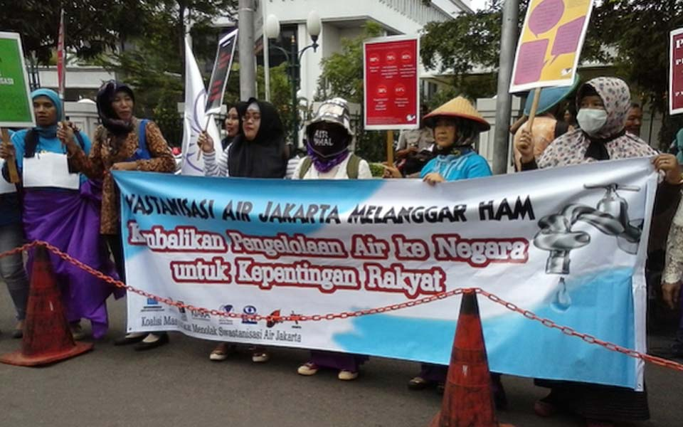 World Water Day rally at State Palace in Jakarta (Jitunews)