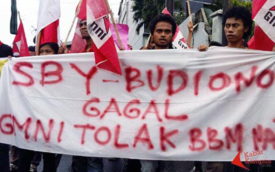Protest against SBY and Boediono government (Kabar Kampus)