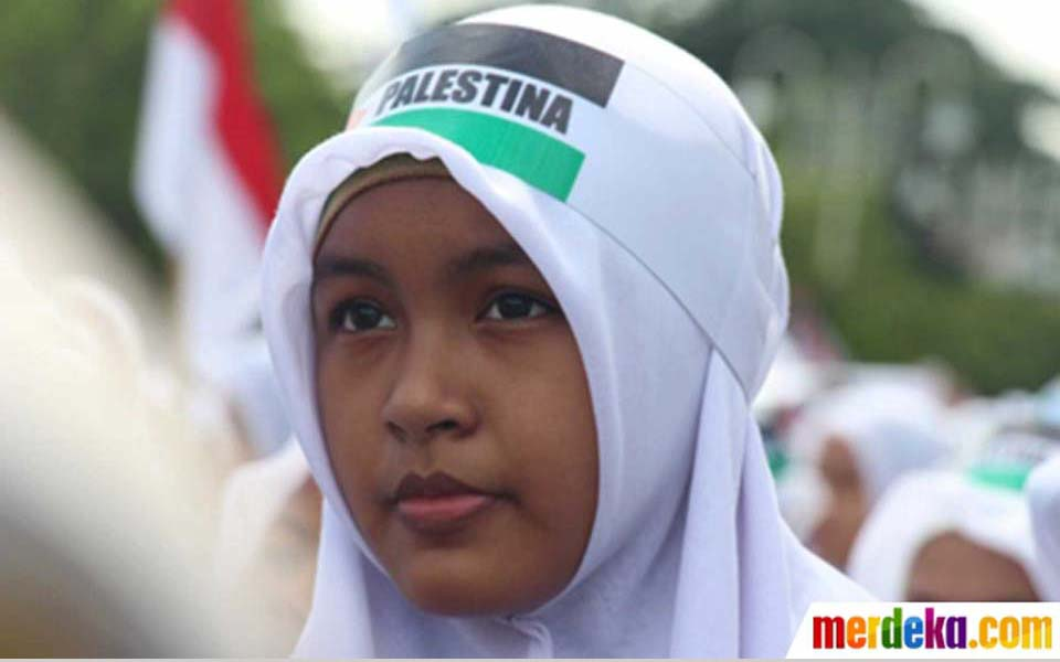 Solidarity action with Palestine (Merdeka)