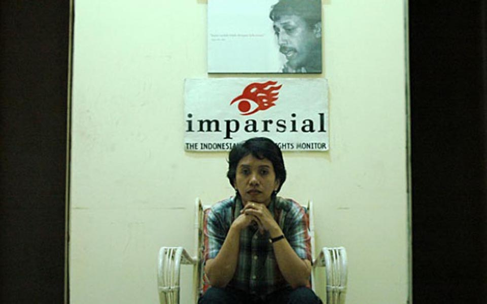 Suciwati, wife of murdered human rights activist Munir (Temp)