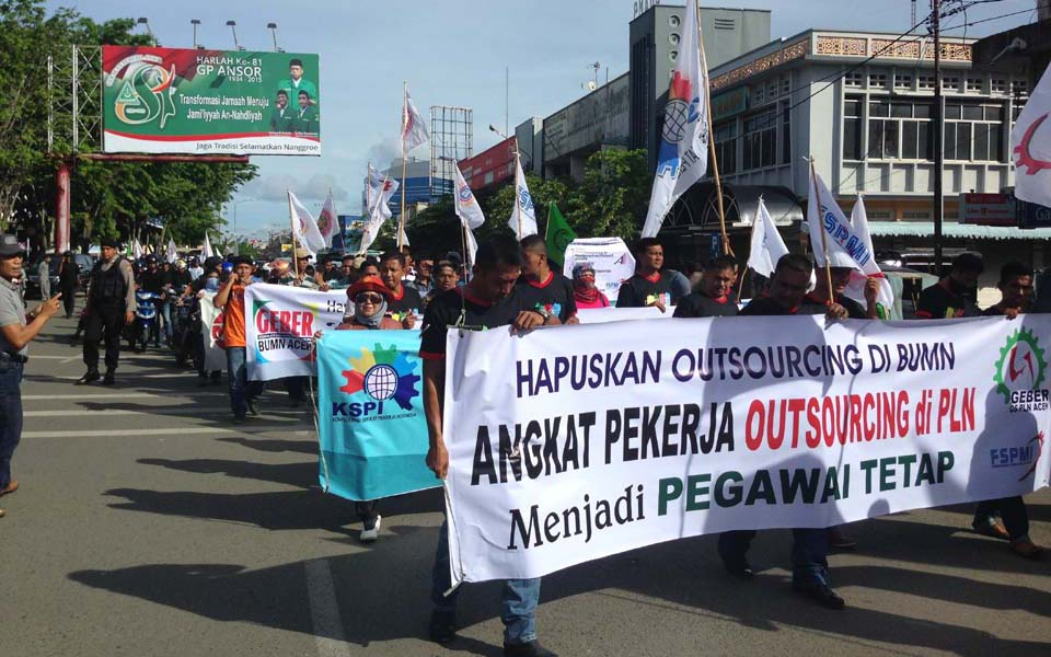 Workers commemorate May Day in Banda Aceh (Star Berita)