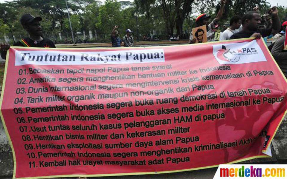 West Papuan protest action in front of the US Embassy (Merdeka)