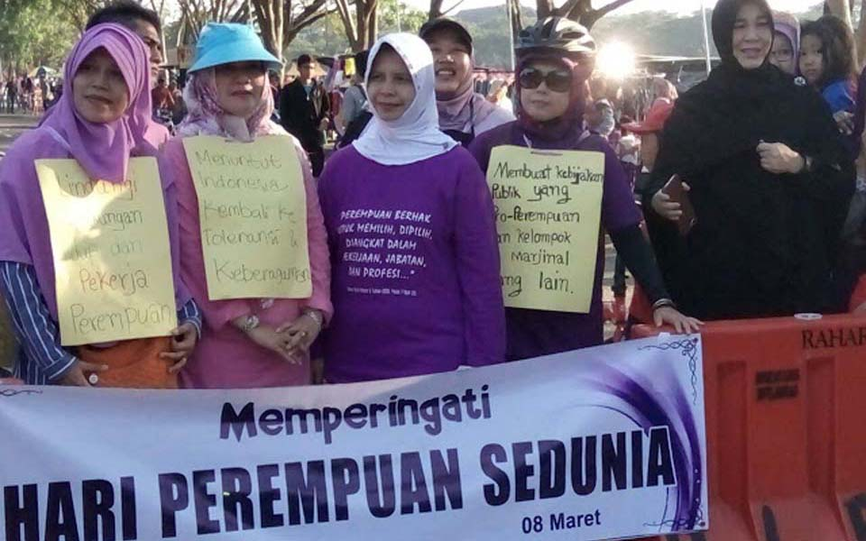 Women activists commemorate IWD in Aceh (Aceh Terkini)