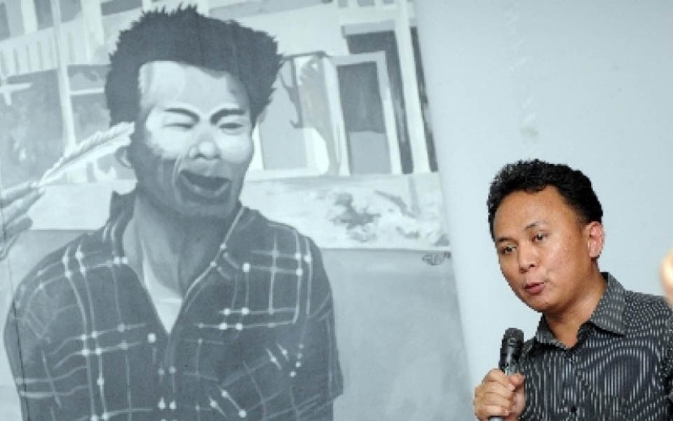 Former PRD member and abduction victim Mugianto (Republika)