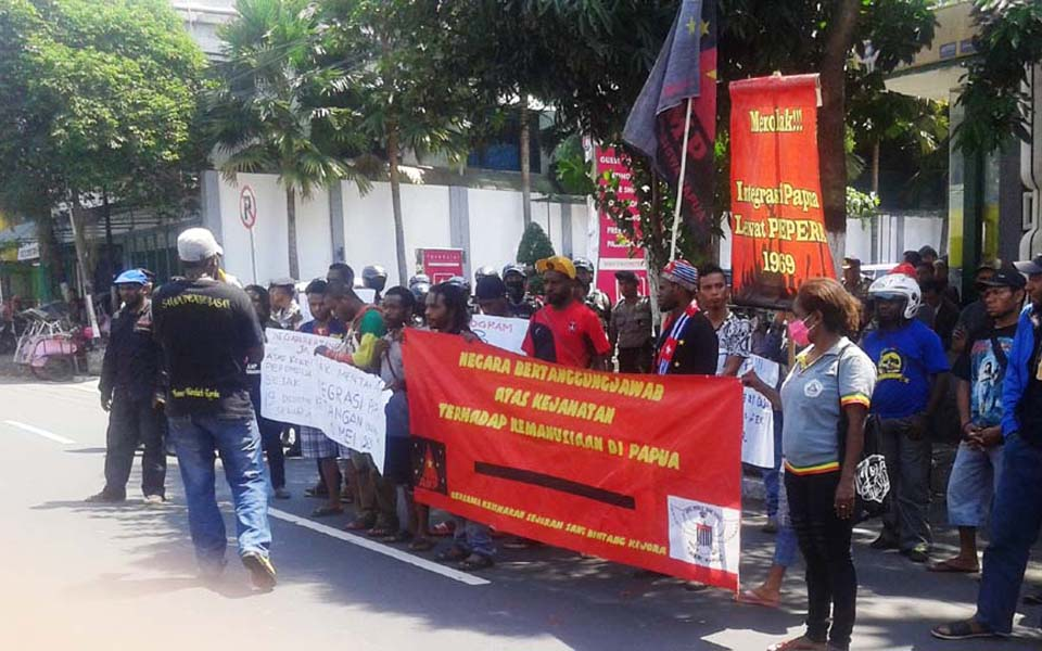 Papuan protest in Yogyakarta