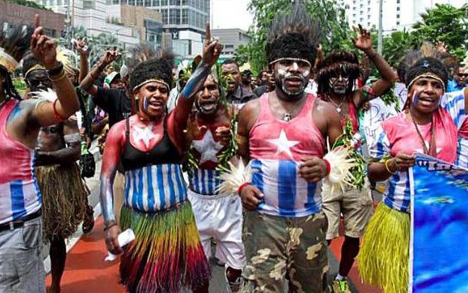 West Papuan independence protest (Viva)