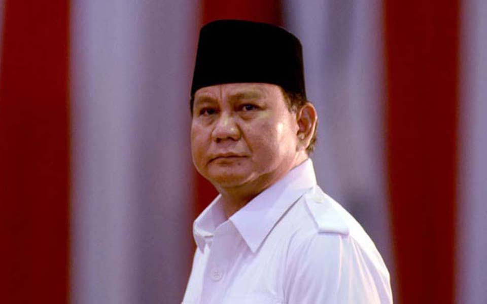 Gerindra Party chairperson Prabowo Subianto (Fajar)