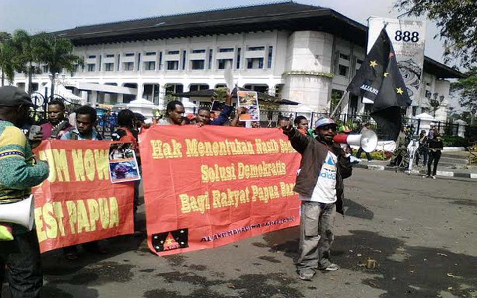 May Day protest in solidarity with West Papua (Sindo News)