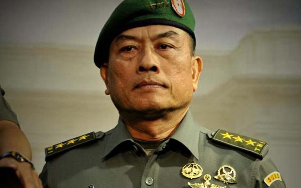 Indonesia's newly appointed military (TNI) chief General Moeldoko (Antara)