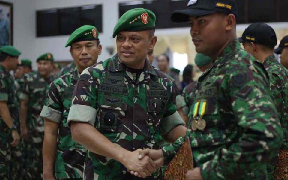 Kostrad commander Lieutenant General Gatot Nurmantyo (Jakarta Greater)