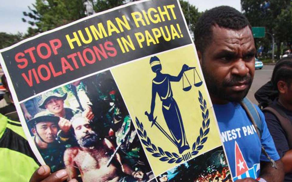 Papuan demonstration against human rights violations - Undated (Merdeka)