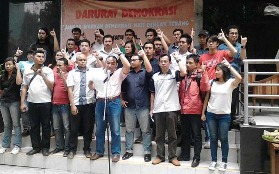 People's Sovereignty Movement (GRB) declaration at LBH office in Jakarta - October 7, 2014 (LBH)