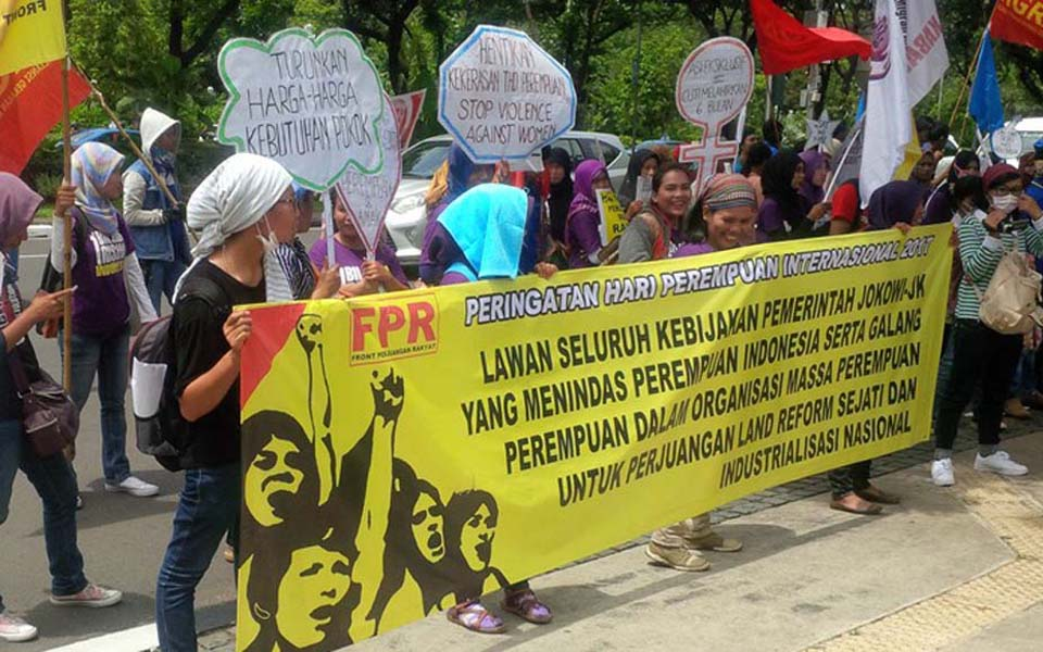 People's Struggle Front (FPR) demonstration in front of the US Embasy in Jakarta - March 8, 2017 (MRB)