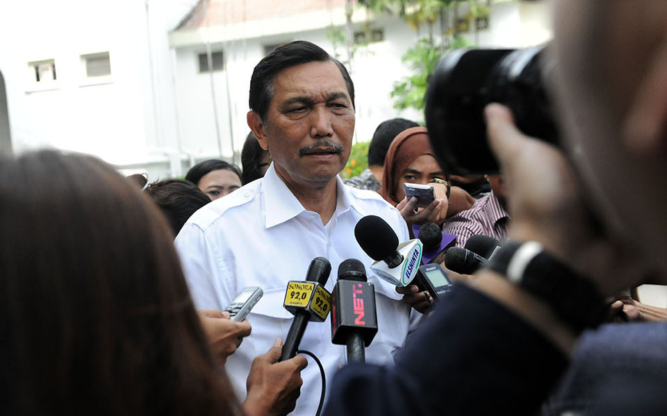 Coordinating Minister for Political, Legal and Security Affairs Luhut Padjaitan (Linkaran News)