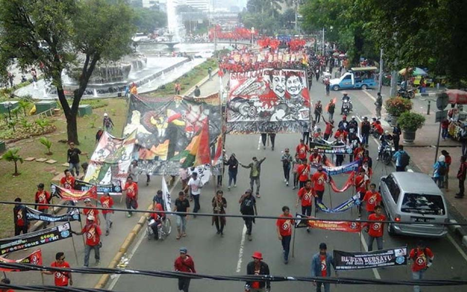 PPRI workers rally in Jakarta - May 1, 2015 (ppriportal)