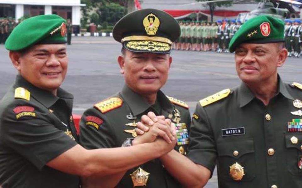 TNI Generals Budiman, Moeldoko and Gatot Nurmantyo - Undated (Tribune)