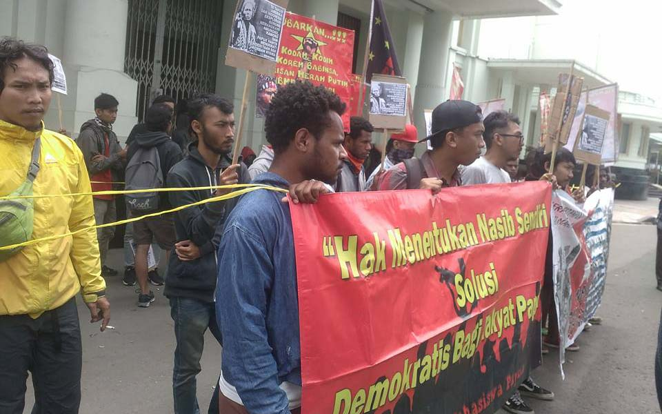 Papua students in Jakarta call for closure of Freeport, self-determination