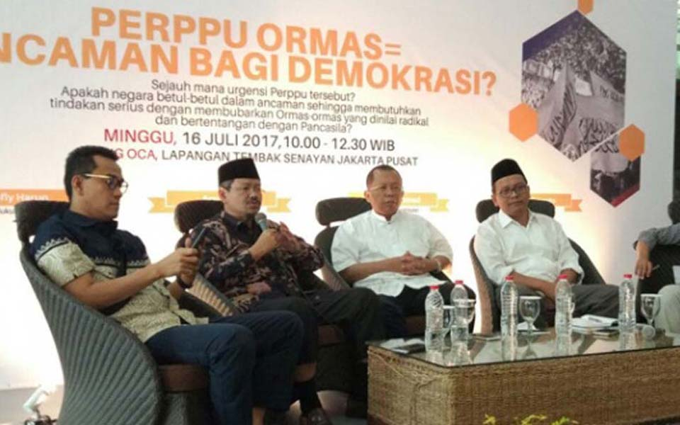 Public discussion on Perppu Ormas in Jakarta - July 16, 2017 (Tempo)