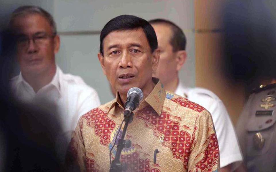 Security chief retired General Wiranto - July 12, 2017 (Detik)