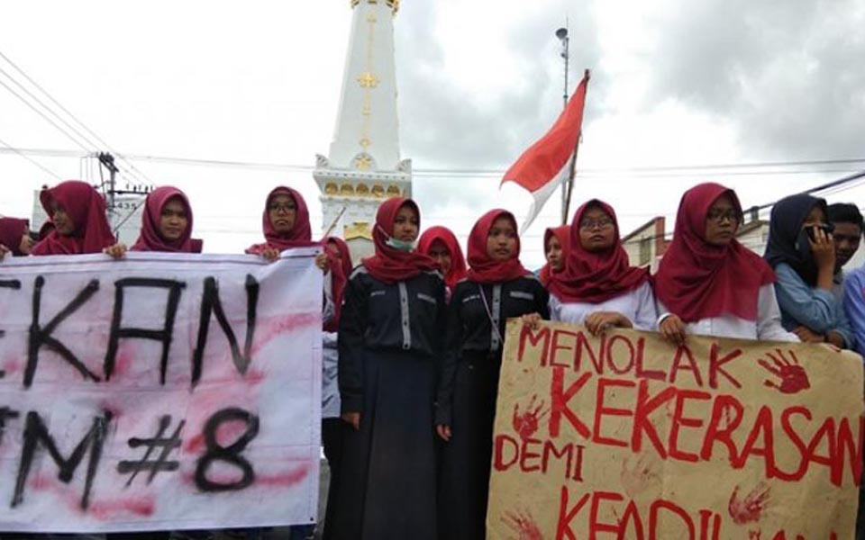 Students commemorate Human Rights Day in Yogya - December 10, 2017 (Tribune)