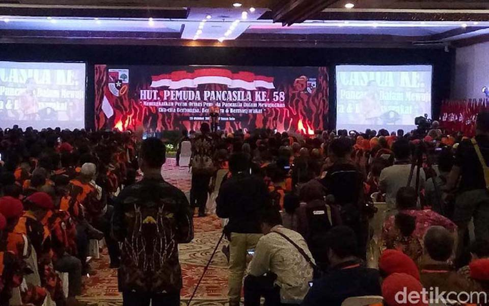 Widodo speaking at 58th Pancasila Youth anniversary in Solo - October 28, 2017 (Detik)
