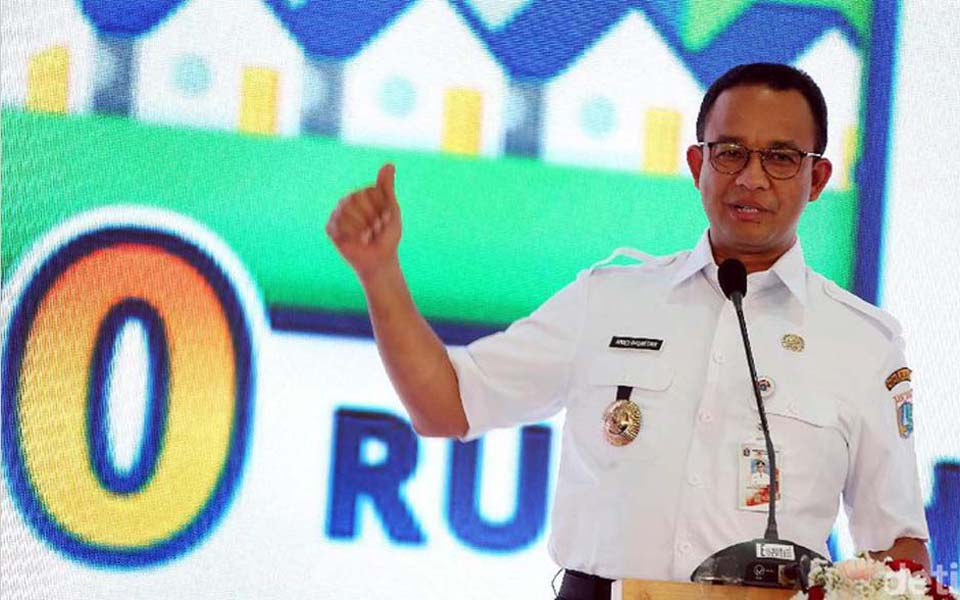 Anies Baswedan promoting zero down payment housing program (Detik)