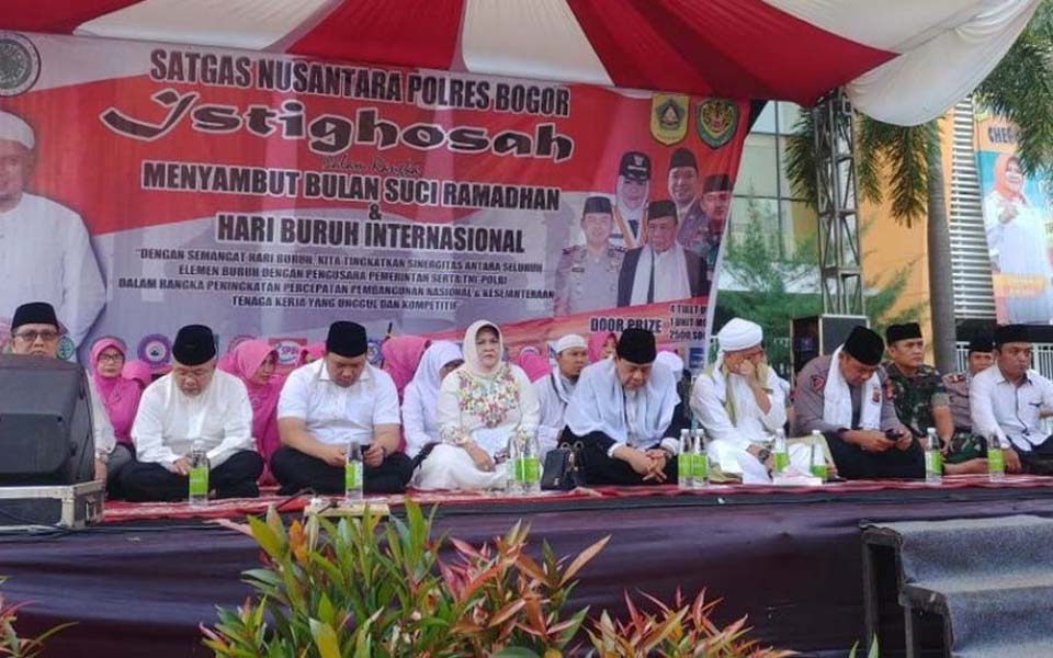 Bogor workers commemorate May Day with joint prayers - May 1, 2018 (Republika)