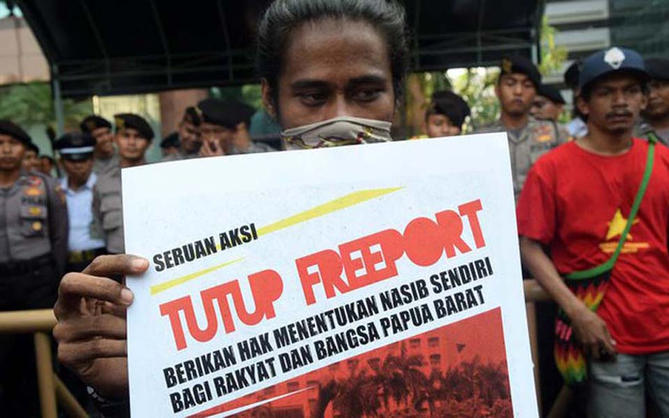FRI and AMP rally at Freeport head office in Jakarta - March 29, 2018 (Tirto)
